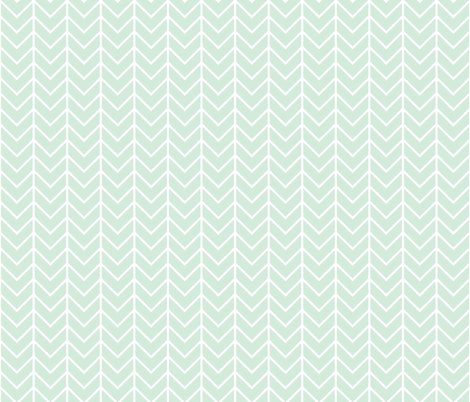 mint chevron fabric by ivieclothco on Spoonflower - custom fabric