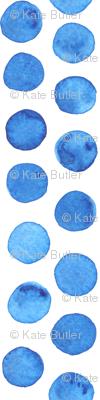 Dark Blue Watercolor Dots