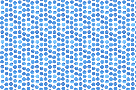 Dark Blue Watercolor Dots fabric by katebutler on Spoonflower - custom fabric