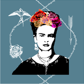 Frida Kahlo (smoke) CUSHION COVER