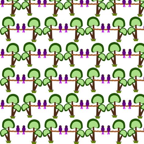Tree birds fabric by anino on Spoonflower - custom fabric