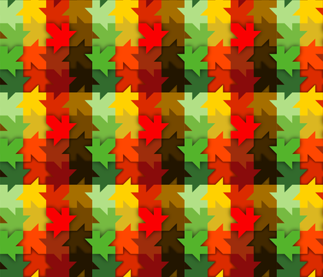 Leaf_Rainbow fabric by medamade on Spoonflower - custom fabric