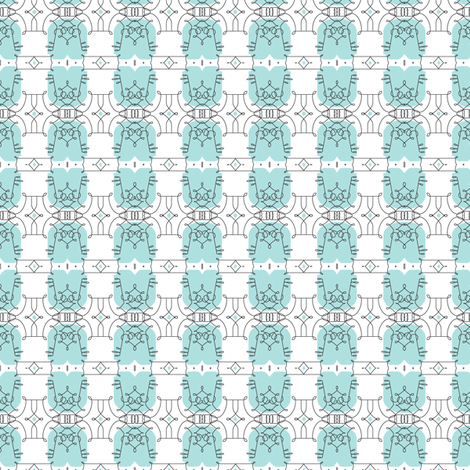 Delfeayo* (Polymer) || French architecture wrought iron New Orleans flourish pastel fabric by pennycandy on Spoonflower - custom fabric