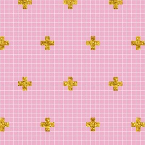 Pixie Plus* (Pink Cow) || geometric sparkle glitter cross math graph paper grid