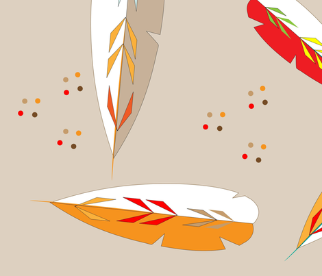 Autumn_Leaves_Patterned_fabric_print_modern_Spoonflower fabric by flisty on Spoonflower - custom fabric