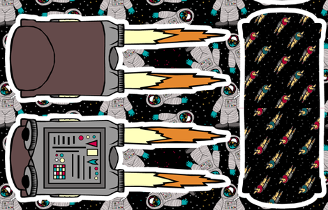 Small Jet Pack Bag fabric by pond_ripple on Spoonflower - custom fabric