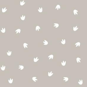 Dino Footprints Ditsy Grey