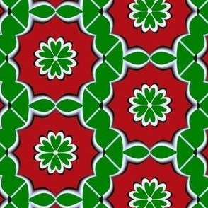 Dutch Christmas - Green on Red