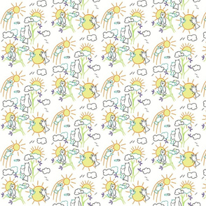 You are my sunshine owls in White