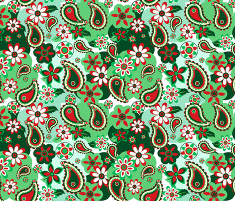 Holiday Paisley fabric by almost_vintage on Spoonflower - custom fabric