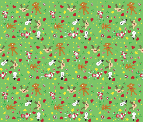 A Very Macabre Christmas fabric by pumpkinbones on Spoonflower - custom fabric