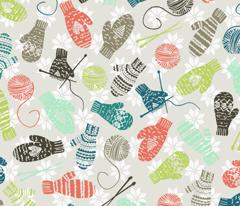 Mitten Knitting Party {Tan}