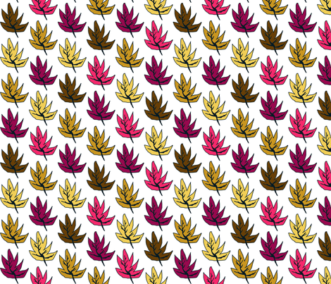 Like Little Leaves fabric by clairekalinadesigns on Spoonflower - custom fabric