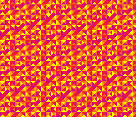 (G2) - Triangles in squares in warm colors fabric by analinea on Spoonflower - custom fabric