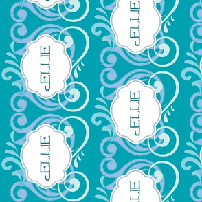 Island Wave Blue Personalized - Vertical