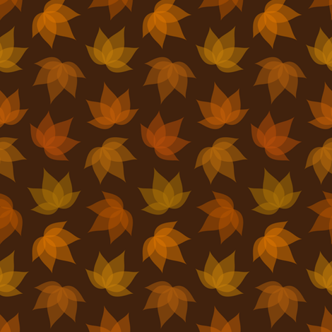 Ethereal fall leaves fabric by petitspixels on Spoonflower - custom fabric