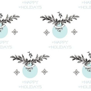 Happy Holidays Ice Blue- 52