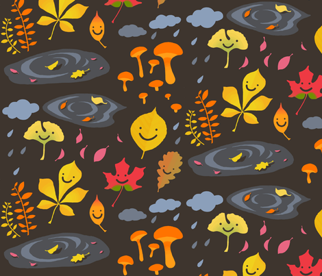 Fall leaves fabric by fra on Spoonflower - custom fabric