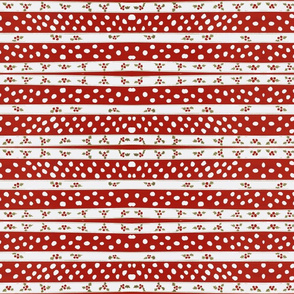 Polk dots, stripes and holly berry small