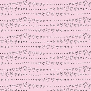 Hearts and Dots on Mauve