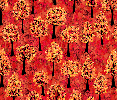 Autumn Woodland fabric by kezia on Spoonflower - custom fabric