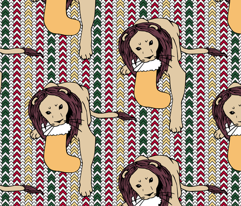 Christmas Lion Sweater fabric by pond_ripple on Spoonflower - custom fabric