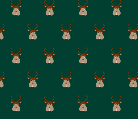 Mark Darcy's Reindeer Jumper fabric by campagnacm on Spoonflower - custom fabric