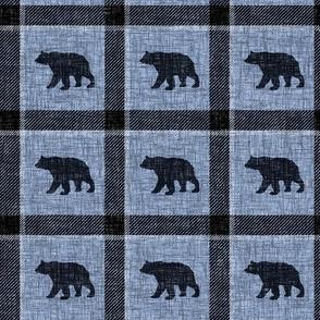 Bear Plaid - steel