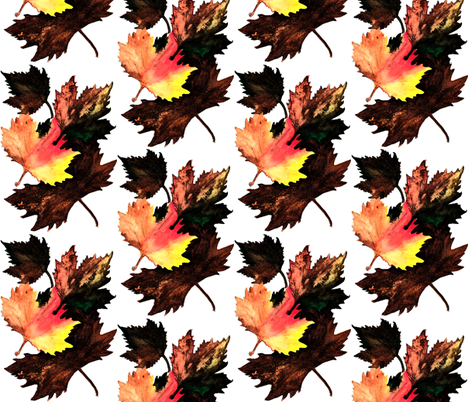 Maple_Leaf_Darkened fabric by joan_stewart on Spoonflower - custom fabric