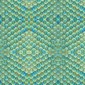 Opal dragon scales