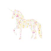 Rainbow Confetti Prancing Unicorn