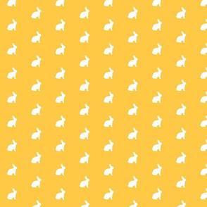 White Bunny Golden Sunshine Yellow