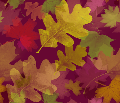these leaves were made for fallin' fabric by cornie on Spoonflower - custom fabric