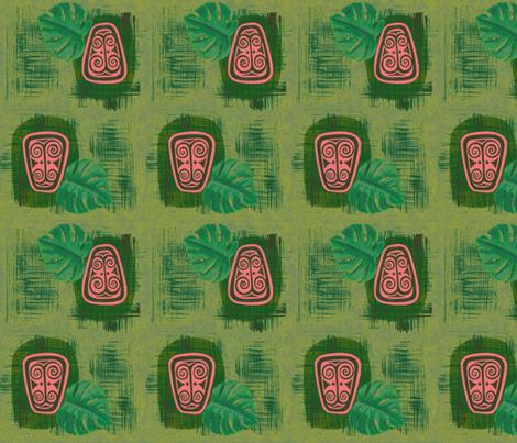 Havaiki Holiday, Spirit of Havaiki, fiji fern fabric by sophista-tiki_by_dawn_frasier on Spoonflower - custom fabric