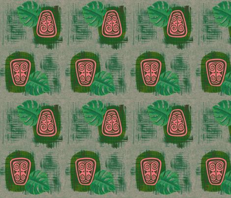 Havaiki Holiday 2013 Spirit of Havaiki, Frosted Fiji Pine fabric by sophista-tiki_by_dawn_frasier on Spoonflower - custom fabric