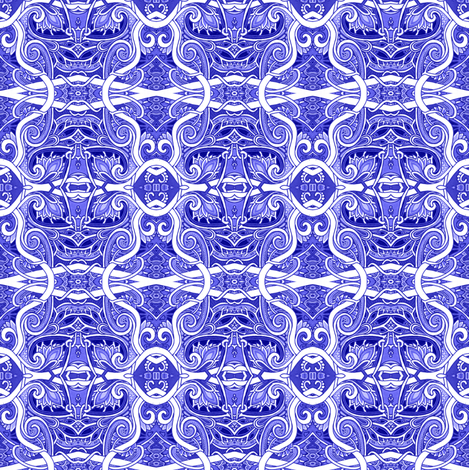 Deft Delft fabric by edsel2084 on Spoonflower - custom fabric