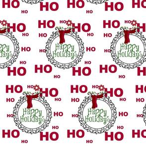 Holiday Ho Ho Ho -happy holidays horizontal