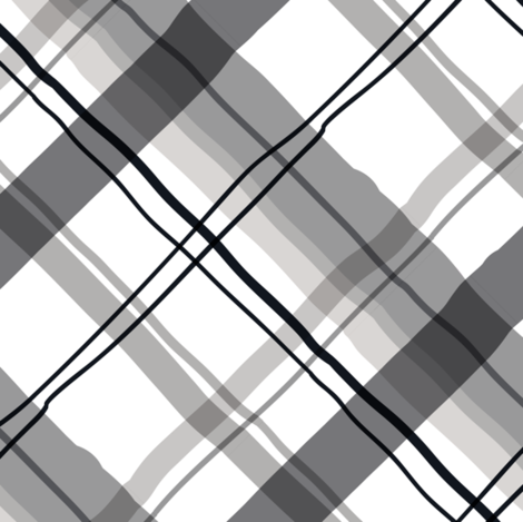 Cocktail Plaid Greyscale fabric by modernprintcraft on Spoonflower - custom fabric