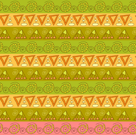 geometric fabric by isamelisa on Spoonflower - custom fabric