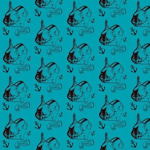 Bulldog Bolzplatzrocker Chicco blau