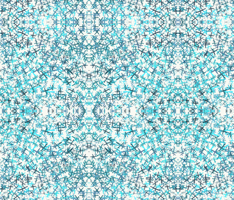 xcross turquoise fabric by ilustraio on Spoonflower - custom fabric