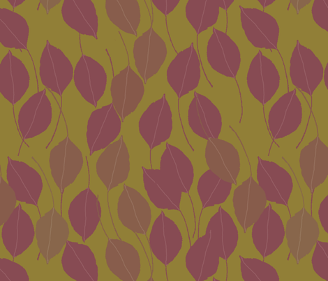 purple pear leaves fabric by weejock on Spoonflower - custom fabric