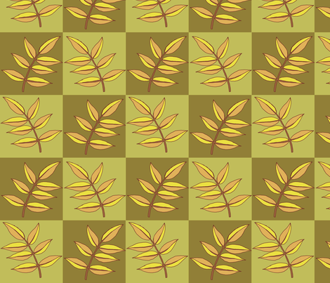 autumn leaves fabric by weejock on Spoonflower - custom fabric
