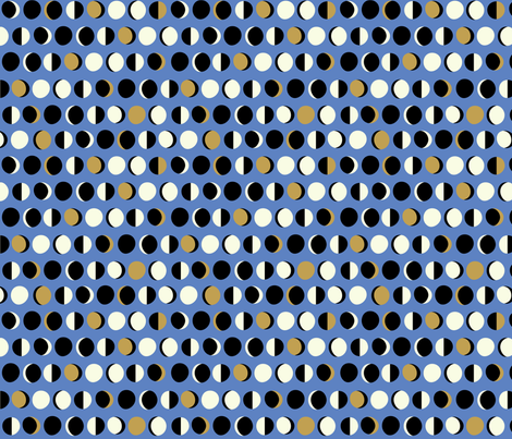 Mod Moons: Cornflower fabric by nadiahassan on Spoonflower - custom fabric