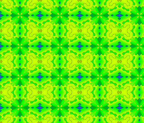 Green cut out design. fabric by koalalady on Spoonflower - custom fabric
