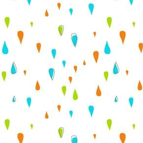 Dew Drops - Turquoise Lime Orange