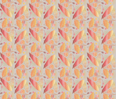 Autumn Leaves fabric by j9design on Spoonflower - custom fabric