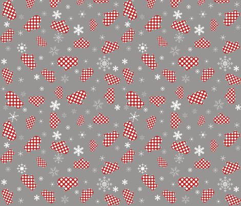 Christmas Mittens fabric by smuk on Spoonflower - custom fabric