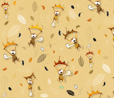 Let the chipmunks fall where they may  fabric by mulberry_tree on Spoonflower - custom fabric
