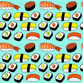 Sushi on Aqua Mat